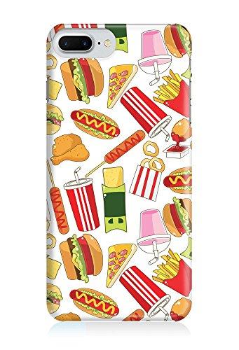 COVER Comic Fast food Essen weiss Design Handy Hülle Case 3D-Druck Top-Qualität kratzfest Apple iPhone 7 Plus