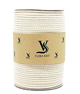 Natural Cotton Macrame Cord Rope 4mm - 110 Yards for Plant Hanger Craft Wall Hanging Handmade DIY