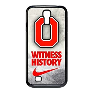 DIY Design Dream 8 Sports NCAA Ohio State Buckeyes Print Black Case With Hard Shell Cover for SamSung Galaxy S4 I9500-Just DO It
