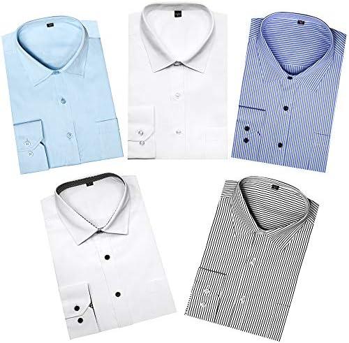 [スポンサー プロダクト]ワイシャツ メンズ 5枚セット 形態安定 長袖 アイシャツ ボタンダウン 白 冠婚葬祭 透けにく レギュラーカラー 大きいサイズ