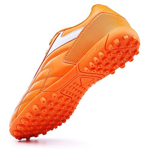 Barenun Kinder Herren Outdoor / Indoor Fußball Schuhe Fußball Training Cleat Schuhe Orange