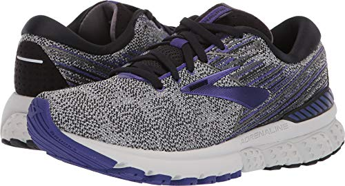 (Brooks Women's Adrenaline GTS 19 Black/Purple/Grey 7 B)