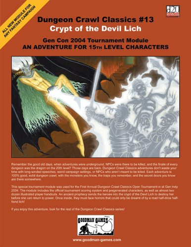 Download Dungeon Crawl Classics #13: Crypt of the Devil Lich ebook