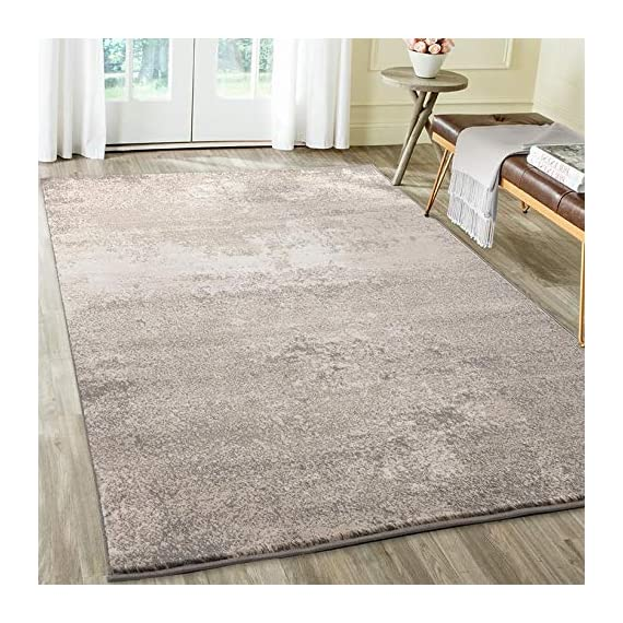 Luxe Weavers Howell Collection Abstract Gray 5x7 Area Rug - Actual Dimension: 5 feet 2 inches width by 7 feet 2 inches length Easy to maintain: Care instuction, vacuum regularly and spot clean stains using mild soap and water. Super soft fibers, comfortable soft to feel. - living-room-soft-furnishings, living-room, area-rugs - 51RCRGL4kTL. SS570  -