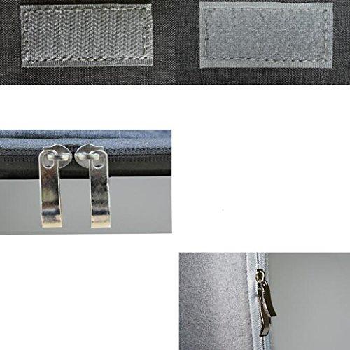 Laptoptasche 15,6/14 Zoll Laptop Notebooktasche Innenbeutel Männer Frauen Laptop Tasche Tablet Große Kapazität Reise Casual Business Aktentasche (Farbe : Grau)