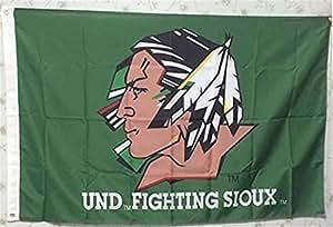 und Lucha Sioux Verde 001de bandera de Flying de gran tamaño 3X 5pies