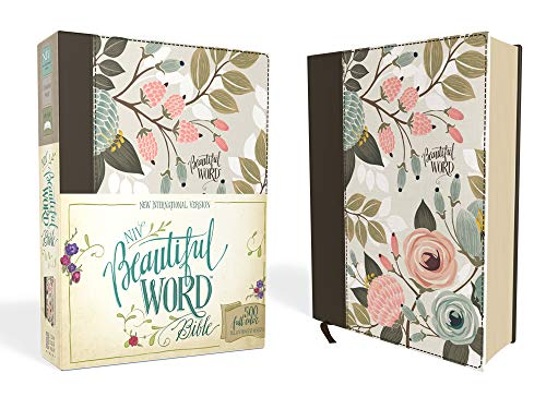 - NIV, Beautiful Word Bible, Cloth over Board, Multi-color Floral: 500 Full-Color Illustrated Verses