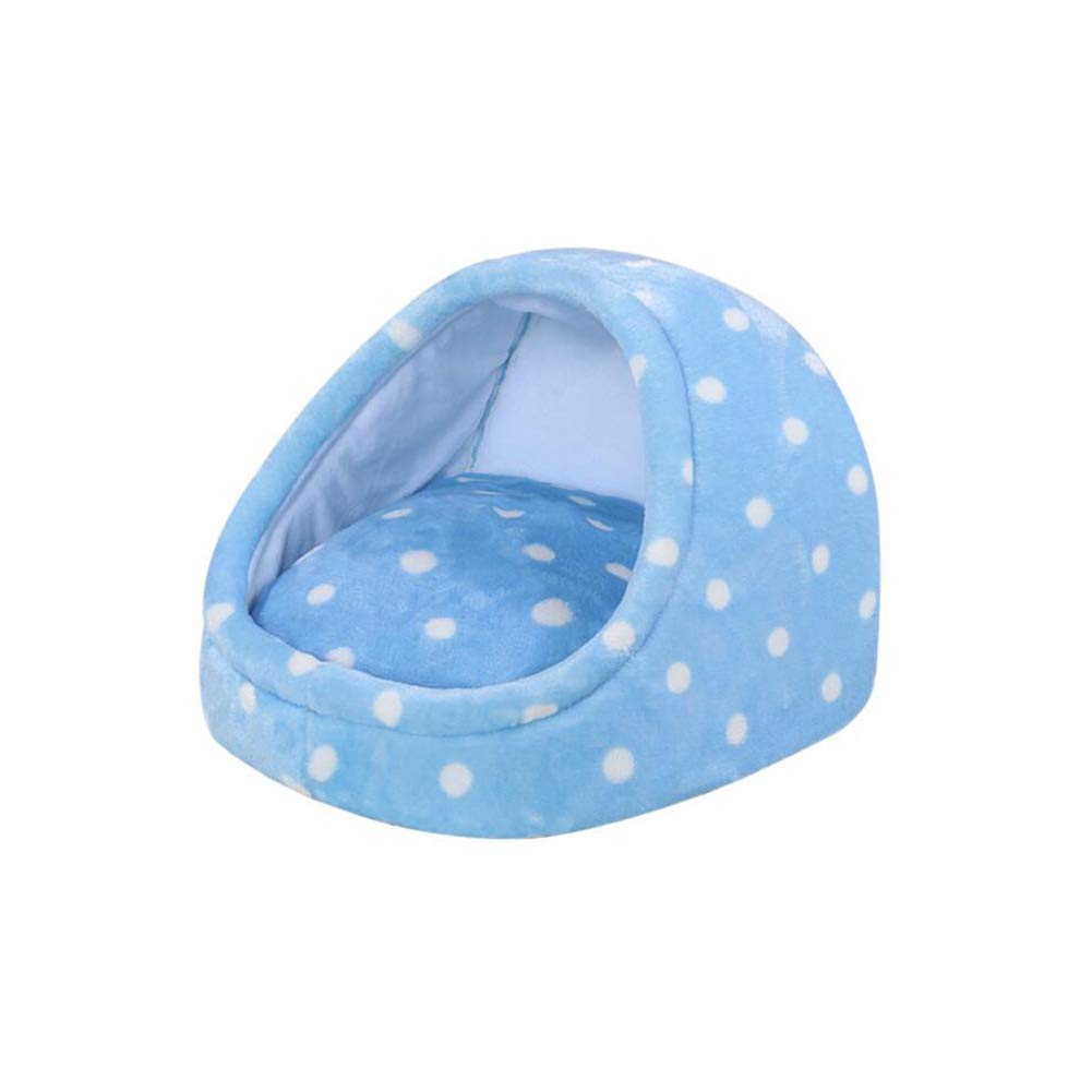 bluee M bluee M FF Kennel Four Seasons General Purpose Small And Medium Sized Dogs Cat Nest Keep Warm Dog Mat Washable Pet Supplies (color   bluee, Size   M)