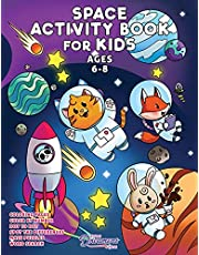 Space Activity Book for Kids Ages 6-8: Space Coloring Book, Dot to Dot, Maze Book, Kid Games, and Kids Activities