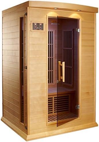 Maxxus 2 Per Low EMF FAR Infrared Carbon Canadian Red Cedar Sauna