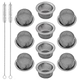 TIMGOU 10 PCs 0.5' Diameter Crystal Tobacco Pipe Strainer Stainless Steel Mental Screen Filters for Crystal Smoking Pipes (with 2 Tube Cleaning Brush)