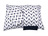 Bacati Aztec/Tribal Bucks 3 Piece Cotton Breathable Muslin Toddler Bedding Sheet Set, Navy