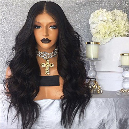 Eversilky 360 Lace Frontal Wig 180% High Density Brazilian Full Lace Human Hair Wigs Pre Plucked Body Wave Free Part Wig with Baby Hair for Black Women (22 Inches, Full lace wig) by Eversilky
