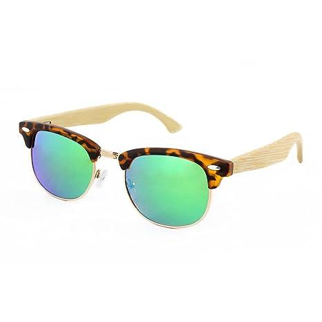 Vickmars FLOWN GREEN gafas de sol / Patillas en madera de ...