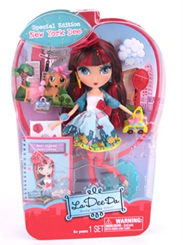 La Dee Da Exclusive NY City Girl Dee Fashion Doll Special Edition With LeBun and NYC Taxi Purse