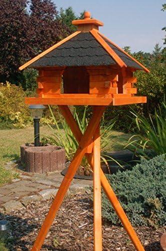 XXL Pajarera casa de pájaros con bitumsc hindeln Varios. Techo Colores a Elegir con o sin iluminación solar V20 Bitum XXL, V20 bitum d XXL m.St.: Amazon.es: Jardín