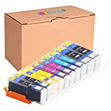 INKUTEN (TM) Compatible Ink Cartridge Replacement for Canon PGI-250XL CLI-251XL High Yield (2 large Black, 2 Cyan, 2 Magenta, 2 Yellow, 2 Small Black) - 10 Pack