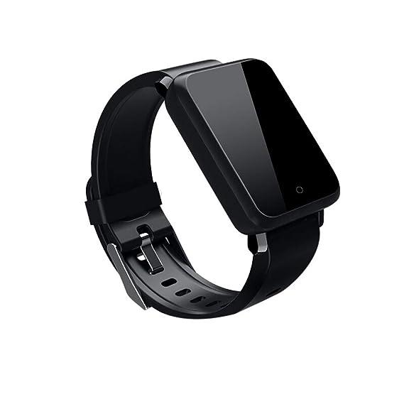 Reloj Inteligente Smart Watch Rastreador de Ritmo cardíaco Presión Arterial Reloj IP67 (Negro): Amazon.es: Relojes