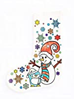 Durable Color-Your-Own Christmas Stocking with 6 Premium Fabric Markers. Snowman Design. A Unique Arts & Crafts Keepsake. Makes a Great Holiday Gift. Satisfaction Guaranteed
