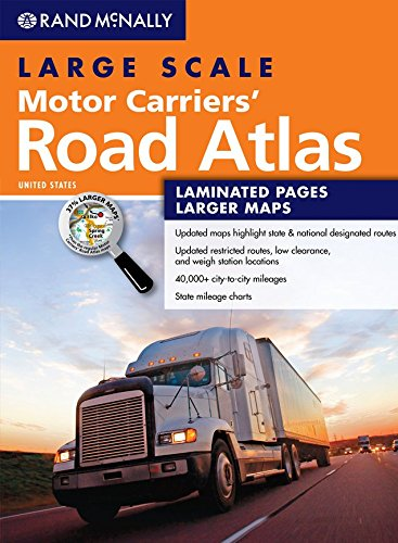 Rand McNally Large Scale Motor Carriers Road Atlas (Rand Mcnally Motor Carrier Atlas)