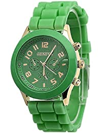Fashion Casual Unisex Boys Girls Geneva Silicone Watch On Sale Clearance Classic Quartz Movement Wrist Watch for Children