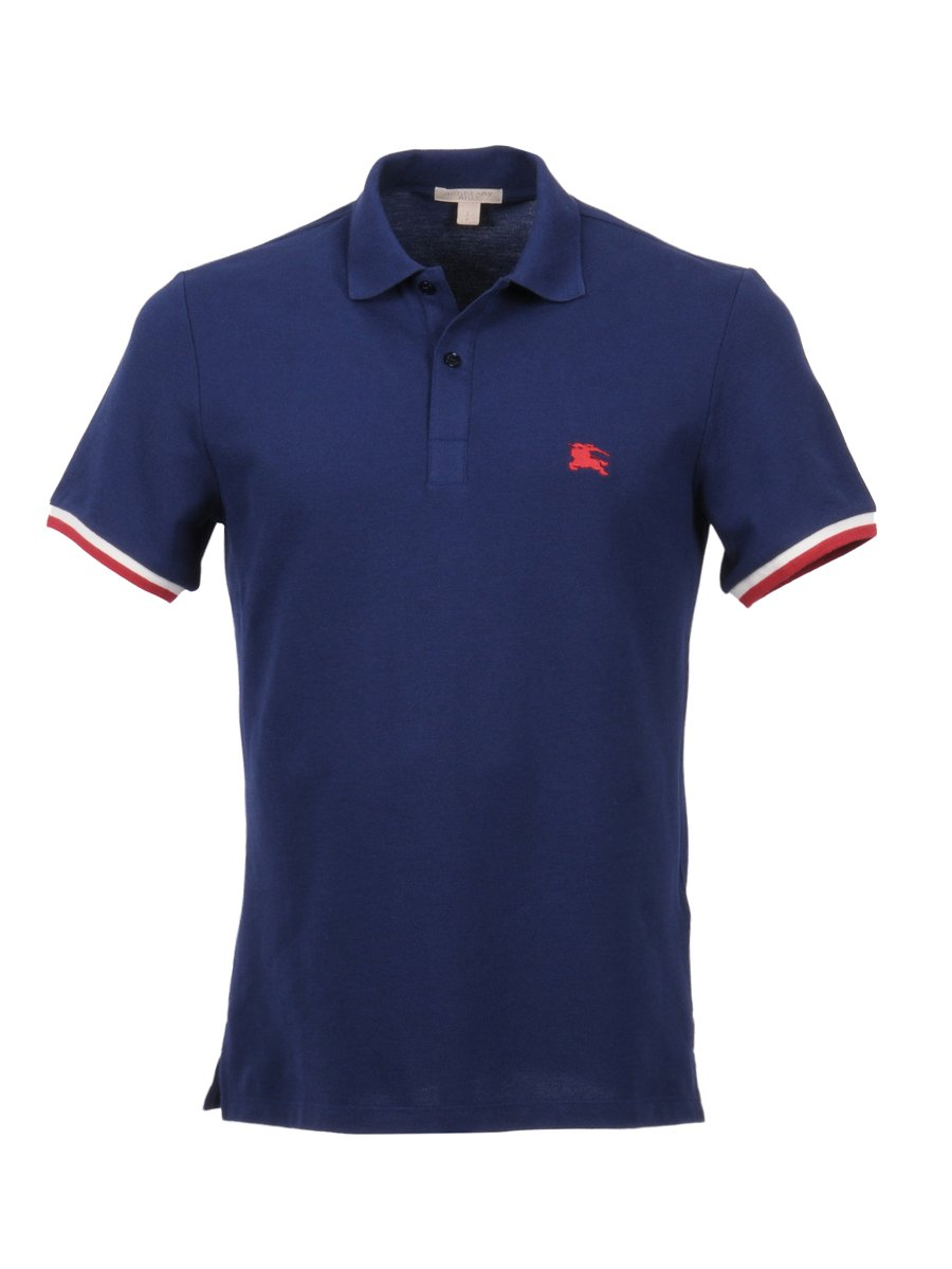49c2149e9877 Burberry Men's 4005867 Blue Cotton Polo Shirt: Amazon.ca: Sports & Outdoors