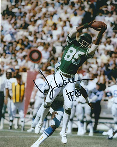 - Autographed Wesley Walker 8x10 Photo New York Jets.