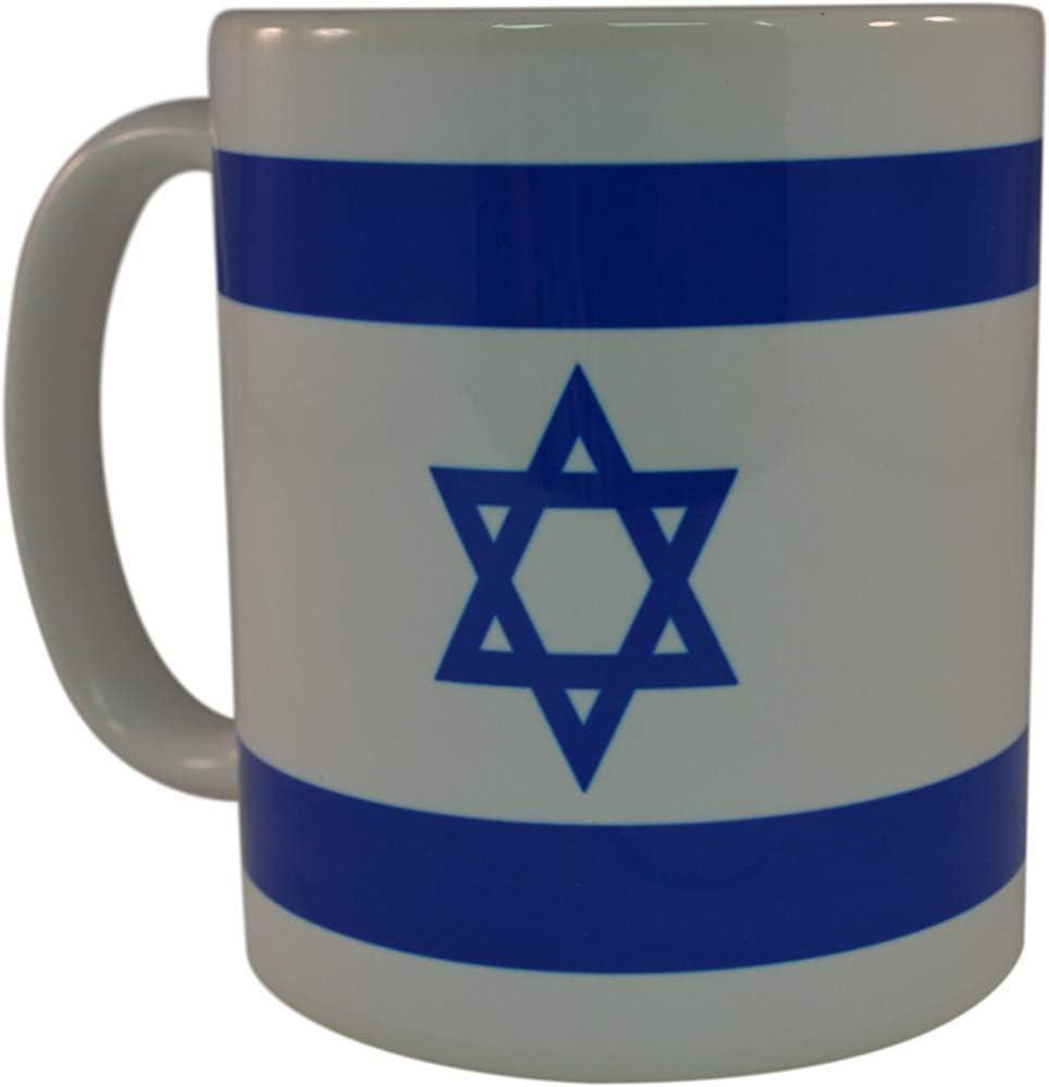 Bandera israelí Taza de café Taza de la novedad Gran idea de regalo para hombres Mujeres Israel judío