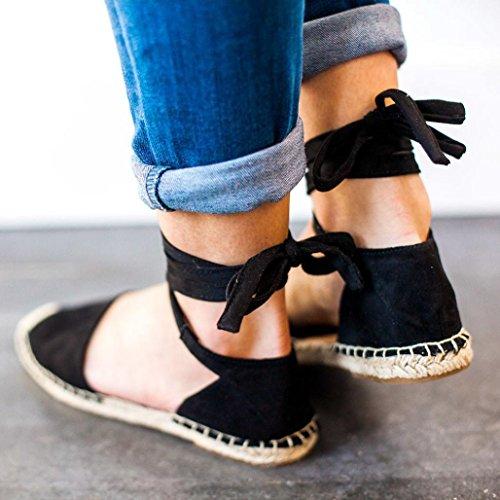 Et Des Été Femmes Compensees Oyedens Taille Grande Sandales Européens Paille Noir Plates Américains Femme Sangles De Chaussures Femme Lin wXngqTpS