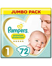 Pampers Premium Protection, Monthly Saving Pack, Soft Comfort, Approved by British Skin Foundation, Nappies
