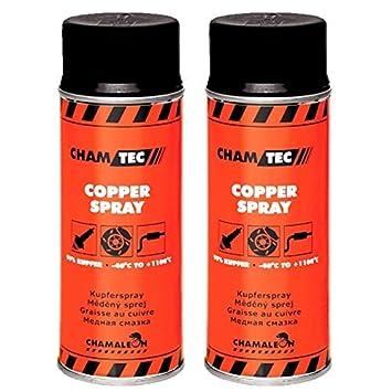 Chamäleon - Espray de protección contra la corrosión, 2 Unidades de 400 ML, Grasa de Cobre, Grasa para vaporizadores: Amazon.es: Coche y moto