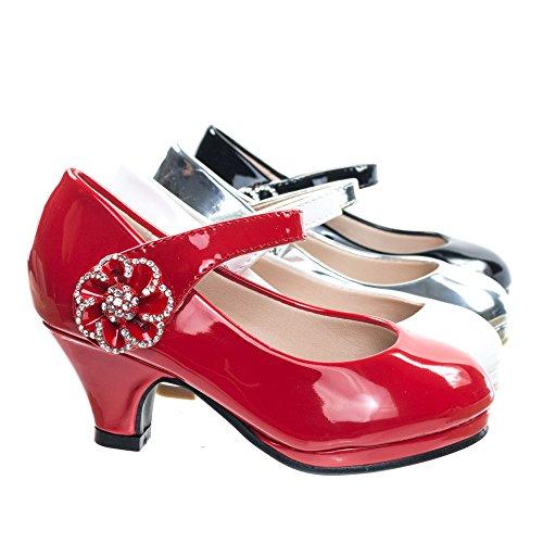 Forever Link Girl's Mary Jane Pump... Flower Red 11