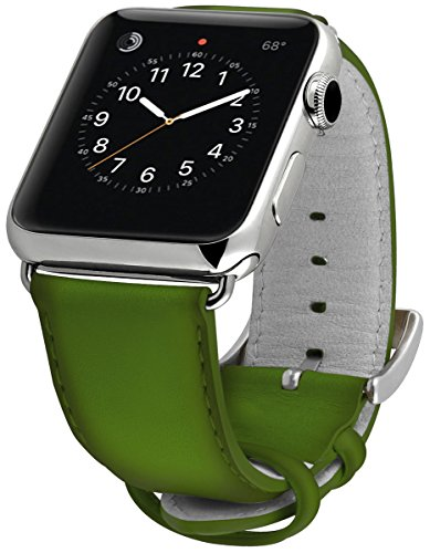ullu Apple Watch Band for Series 1 & Series 2 in Premium Leather - Lime - UAWS38SSVT93 by ullu (Image #2)