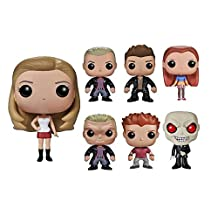 Funko Pop Complete Set of 7 Buffy the Vampire Slayer: Buffy, Willow, Angel, Spike, Vampire Spike, the Gentleman, and Oz