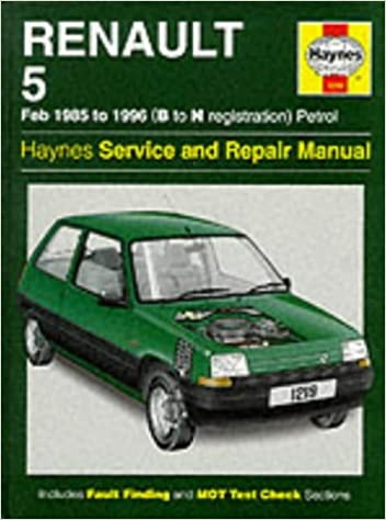 Renault 5 1985-96 Service and Repair Manual (Haynes Service and Repair Manuals): A.K. Legg: 9781859600993: Amazon.com: Books