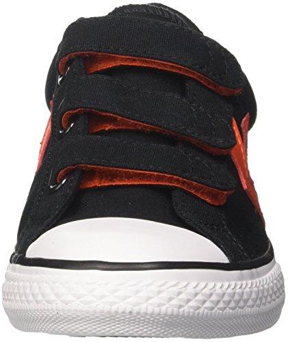 Converse Unisex-Kinder Star Player EV 3v Ox Black/Gym Red/White Sneaker Mehrfarbig (Black/Gym Red/White)