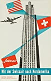 Switzerland - Swissair - (artist: Henri Ott c. 1950) - Vintage Advertisement (36x54 Giclee Gallery Print, Wall Decor Travel Poster)