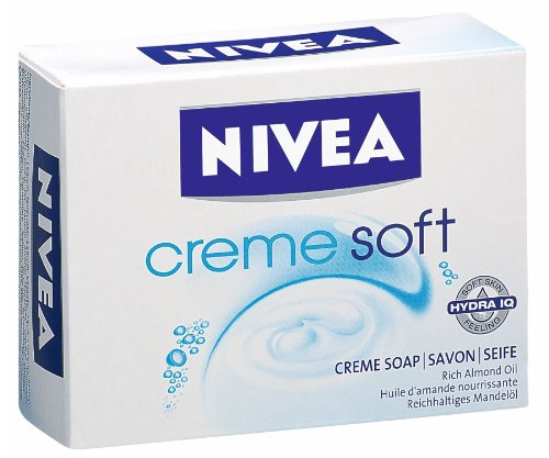 Nivea Creme Soft Soap 100g soap bar by Nivea (100g Soap Bar)