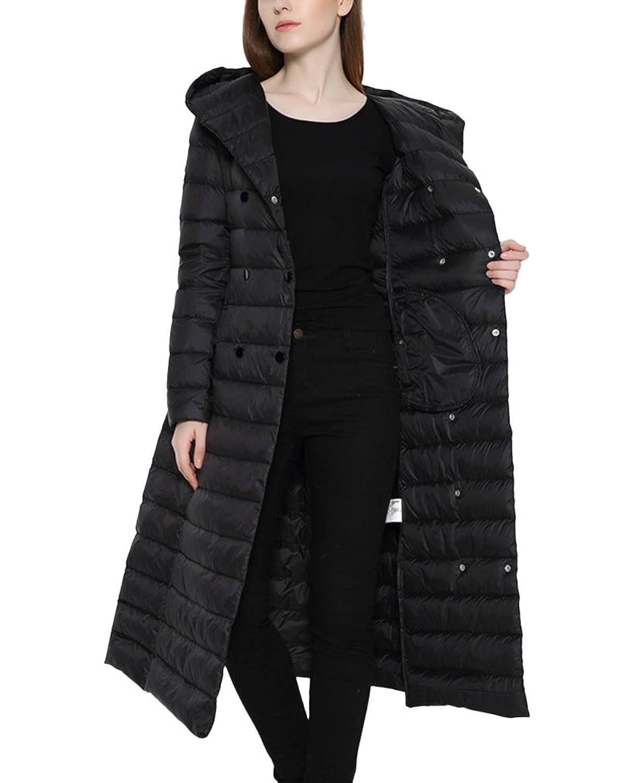 Lukitty Women's Long Down Coat Lightweight Hooded Maxi Puffer Jacket Parka:  Amazon.ca: Clothing & Accessories