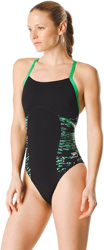 Flyback Color Block Adult Team Colors Speedo Womens Swimsuit One Piece Endurance