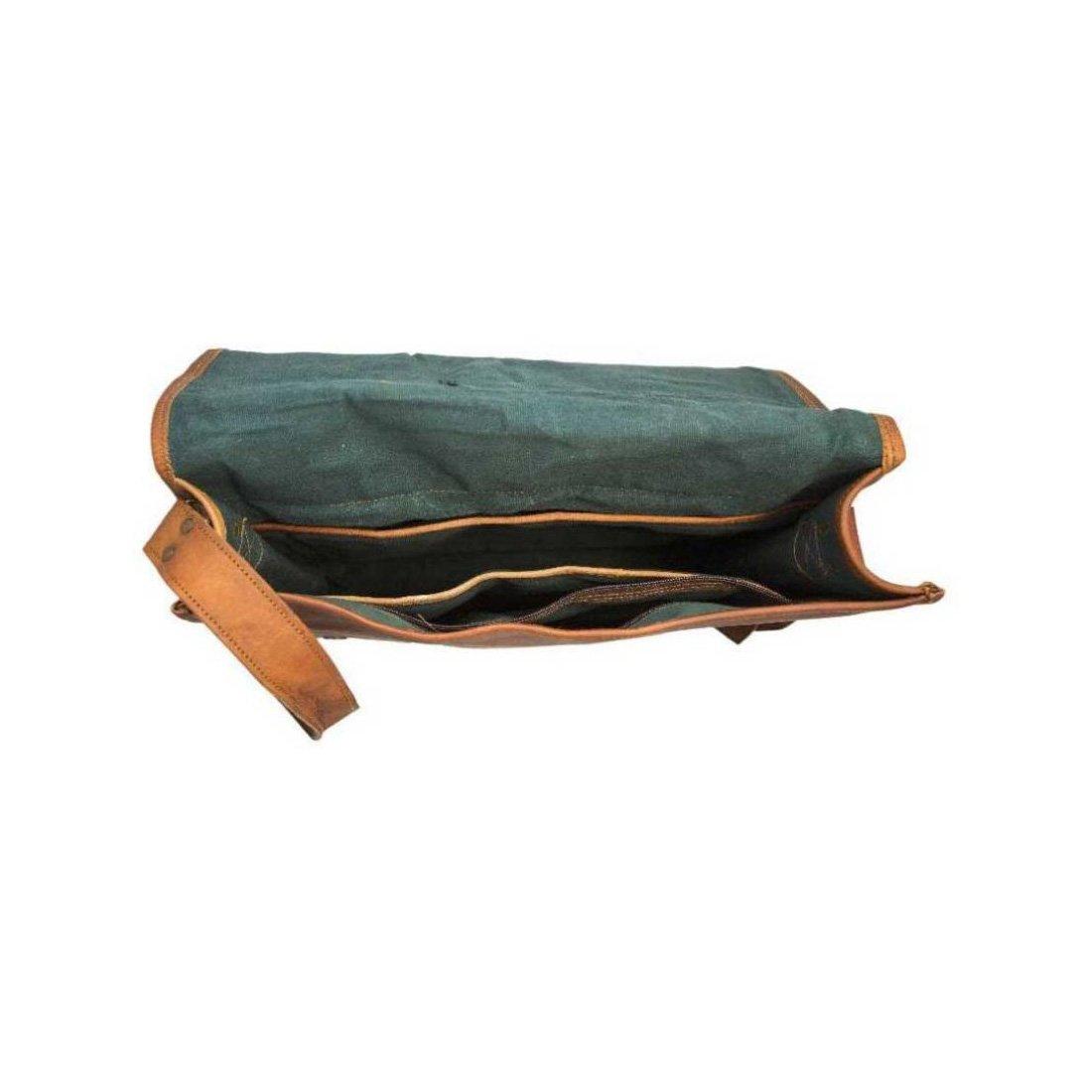 Full Flap Laptop Bag 15x11 inches IHK 2001 iHandikart Handicrafts Handmade Vintage Leather Messenger Bag