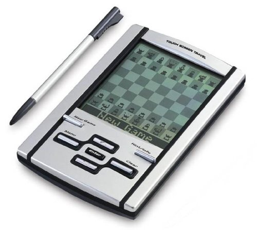 Mephisto Touch Screen Travel Chess Computer with leather case, by (Touch Screen Chess Game)