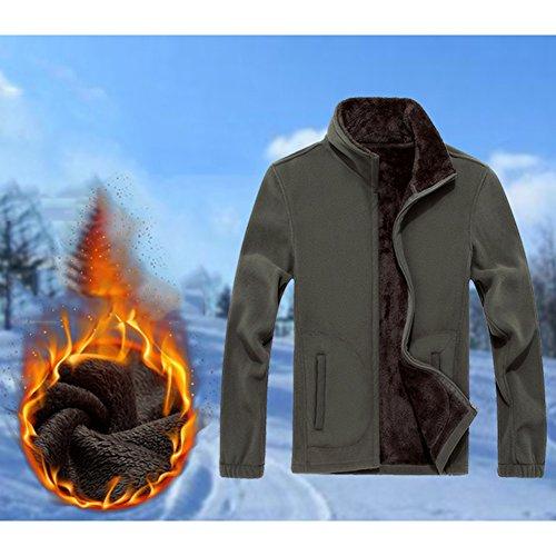 Verde Grandes Invierno Abrigos Negro Chaquetas Hombre Juleya 4XL Abrigo Espesos Tallas M Verde Abrigo Lana Abrigos Gris Azul Chaqueta Rojo vEqqwx6XF