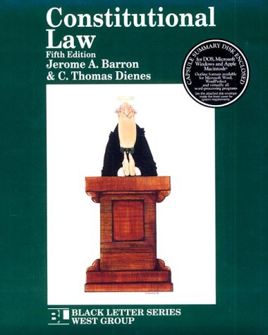 Constitutional Law (Black Letter Series)