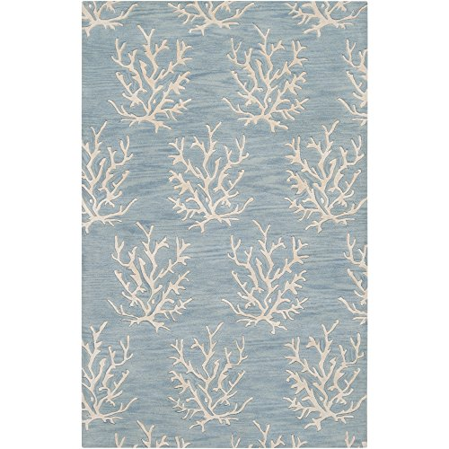 Surya Somerset Bay by Escape ESP-3013 Coastal Hand Tufted 100% New Zealand Wool Powder Blue 3'3