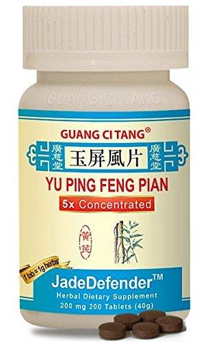 Yu Ping Feng Pian (JadeDefender) 200 mg 200 Tablets