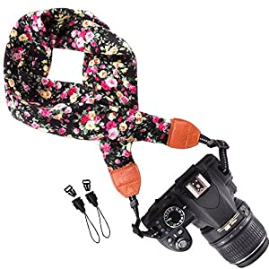 Wolven Soft Scarf Camera Neck Shoulder Strap Belt for ALL DSLR/SLR/Digital Camera (DC)/Instant Camera/Polaroid etc
