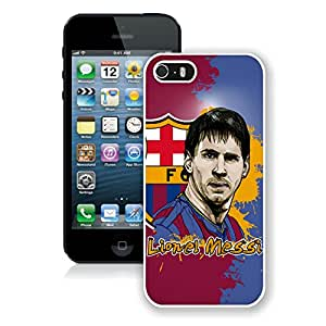 Personalized Lionel Messi 8 iPhone 5 5s 5th Generation Phone Case in White