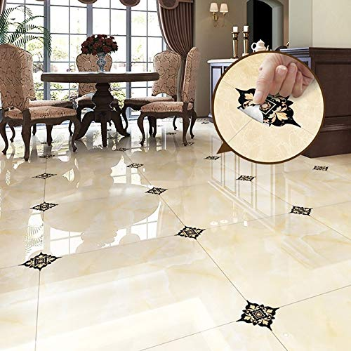 Ampire Floor Stickers Wall Stickers Tiles Self-Adhesive Waterproof Decorative Bathroom Kitchen Wall...
