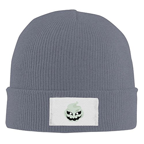 Men Women Halloween Ghost Mask Warm Stretchy Knit Wool Beanie Hat Solid Daily Skull Cap Outdoor Winter ()